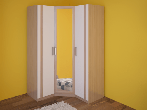 01 2 600x450 - Walker 01 шкаф угловой с зеркалом