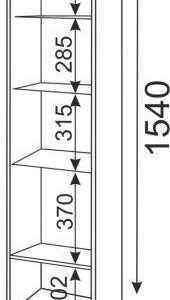 04 1 170x300 - Тиффани М04 пенал-надстройка