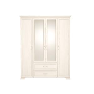 Венеция 02 шкаф для одежды 4-х дверный с зеркалом