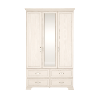 Венеция 01 шкаф для одежды 3-х дверный с зеркалом