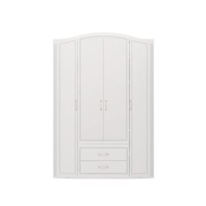 Виктория 02 шкаф для одежды 4-х дверный с ящиками