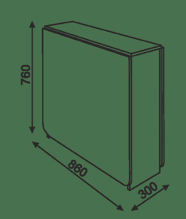 oval5 600x706 - Стол-книжка овальная