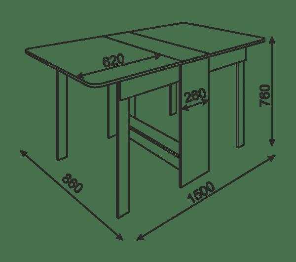 oval6 600x530 - Стол-книжка овальная