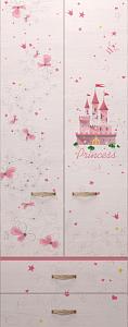princzessa20 118x300 - Принцесса 20 шкаф для одежды с ящиками