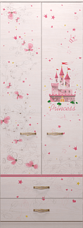 princzessa20 - Принцесса 20 шкаф для одежды с ящиками
