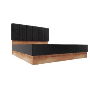 Рамона Кровать 180*200 см с п/мех (дуб кельтский/черный)