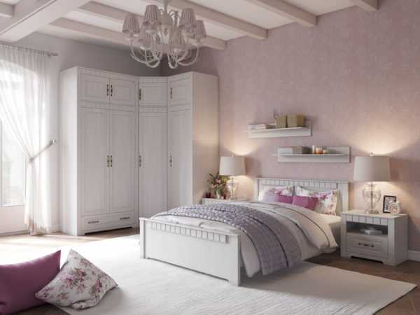 spalnya provans 2 600x450 - Кровать Прованс 120х200 см в классическом стиле