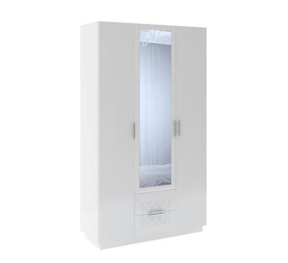 Тиффани М29 шкаф 3-х дверный с ящиками