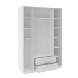 Тиффани М28 шкаф 4-х дверный с ящиками