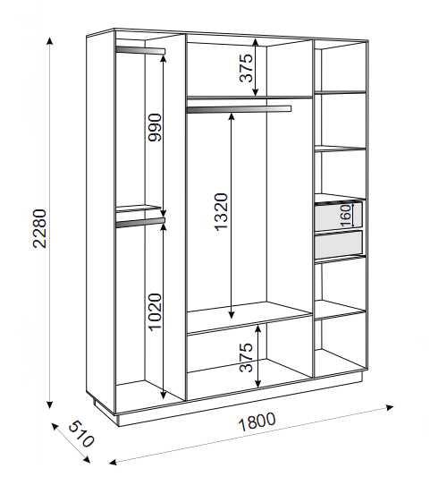 Тиффани М21 шкаф 4-х дверный