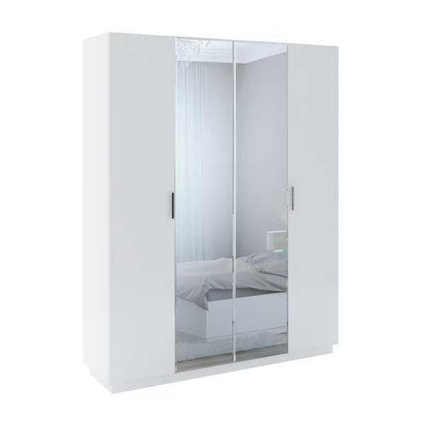 tiffani m22 shkaf 4 h dvernyj s zerkalom 600x600 - Тиффани М22 шкаф  4-х дверный с зеркалом
