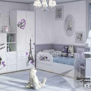 bonzhur 1 300x300 - Кровать детская ТРИО (белая)