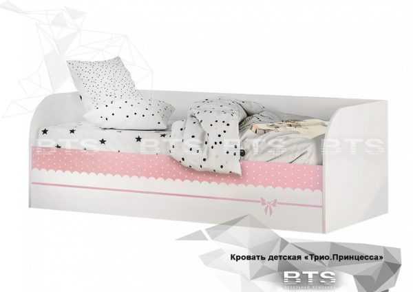 krovat detskaya 600x424 - Кровать детская ТРИО Принцесса с подъемным механизмом