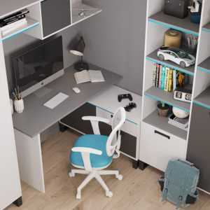 Carbon white С2 стол угловой