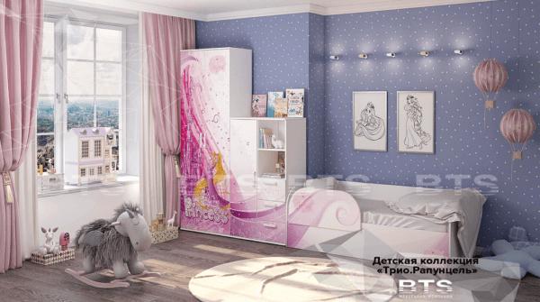 rapuncz 1 600x335 - Кровать детская ТРИО Рапунцель