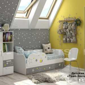 zvezdy 1 300x300 - Кровать детская ТРИО Звездное детство