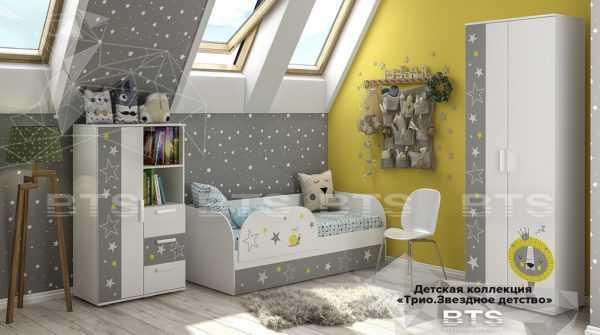 zvezdy 1 600x335 - Кровать детская ТРИО Звездное детство