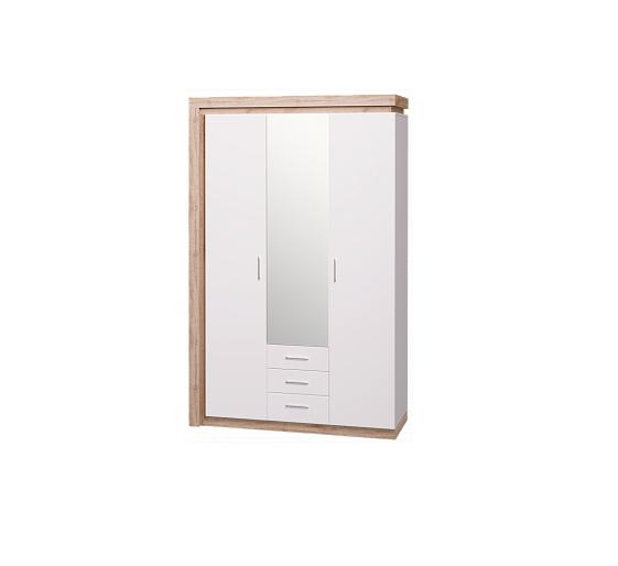 Люмен 15 шкаф трехдверный с зеркалом