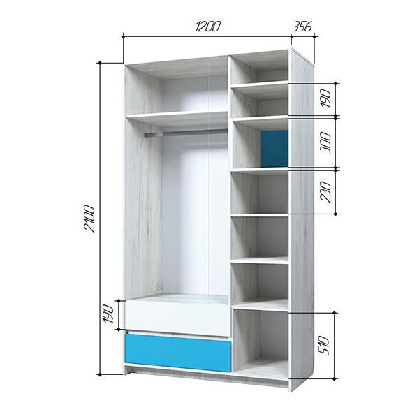 БРИЗ 25 Шкаф трехдверный