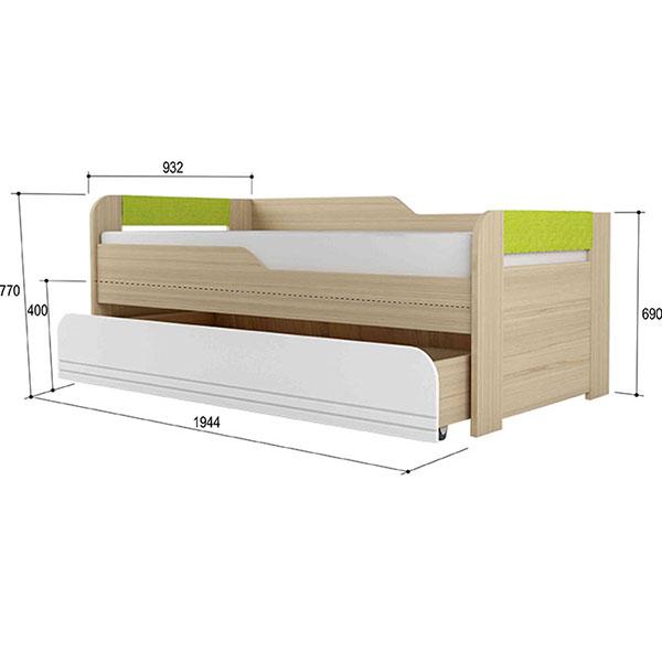 СТИЛЬ 900.1 Кровать 2-уровневая Лайм