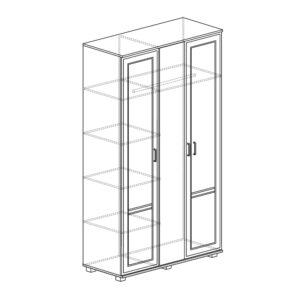 БЕЛЛА 250 3-х дверный (белый/ясень белый)