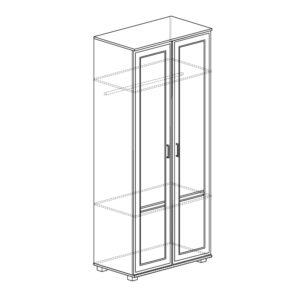 БЕЛЛА 241 Шкаф 2-х дверный (белый/ясень белый)
