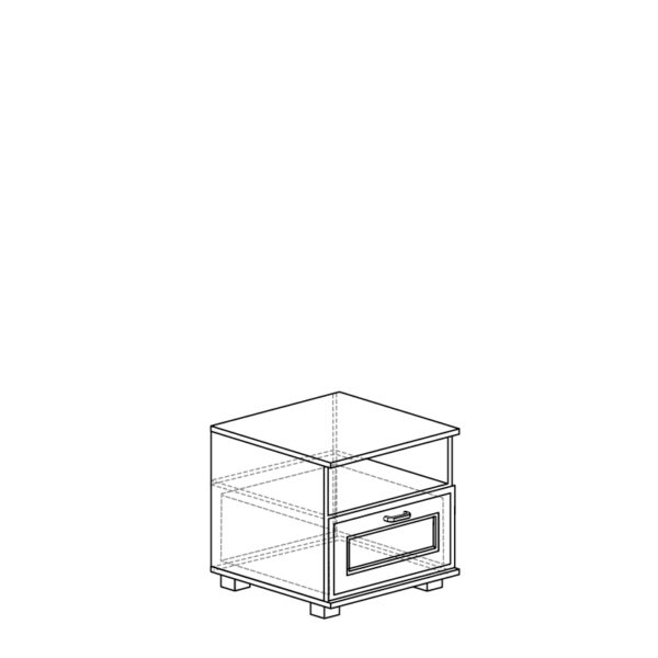 248 5d709eb6df984 600x600 - БЕЛЛА 248 Тумба прикроватная (белый/ясень белый)