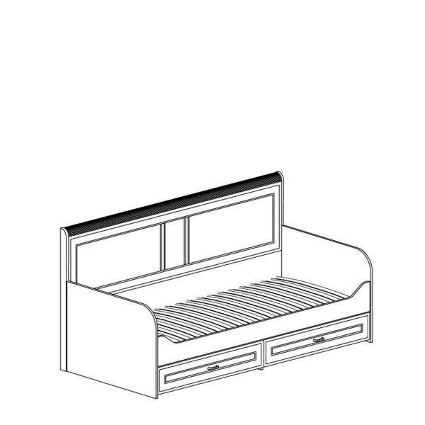 250 5d709ed851f1b 600x600 - Кровать БЕЛЛА 250 90х200 см с ящиками (белый/ясень белый)