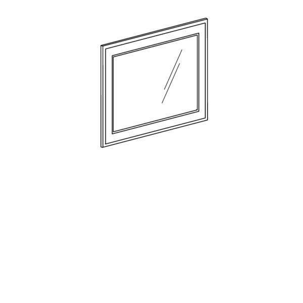 251 600x600 - БЕЛЛА 251 Зеркало (белый/ясень белый)