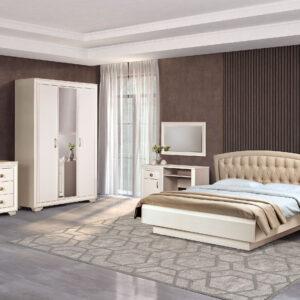 АФИНЫ 361 Шкаф для одежды 3-дверный (кремовый белый)