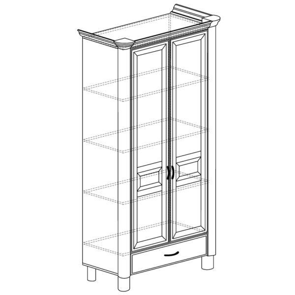 571 600x600 - ЭЛЛИ 571 Шкаф 2-х дверный (кремовый белый)