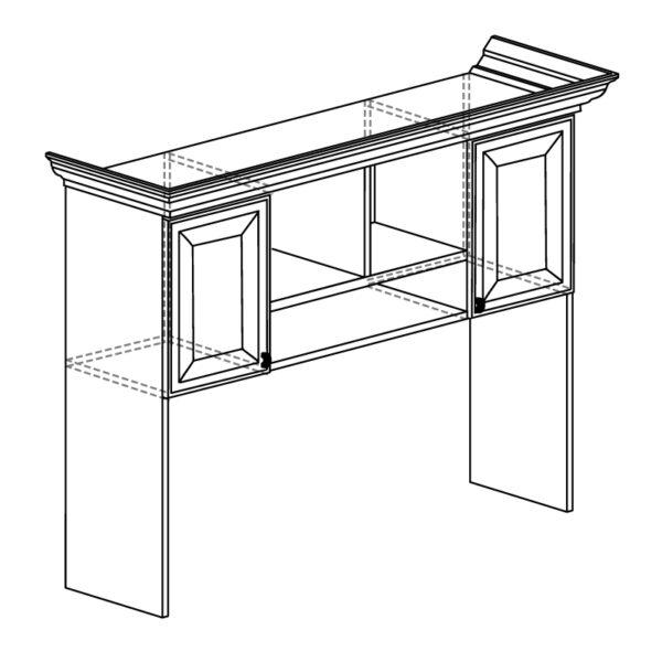 578 600x600 - ЭЛЛИ 578 Надставка стола (кремовый белый)