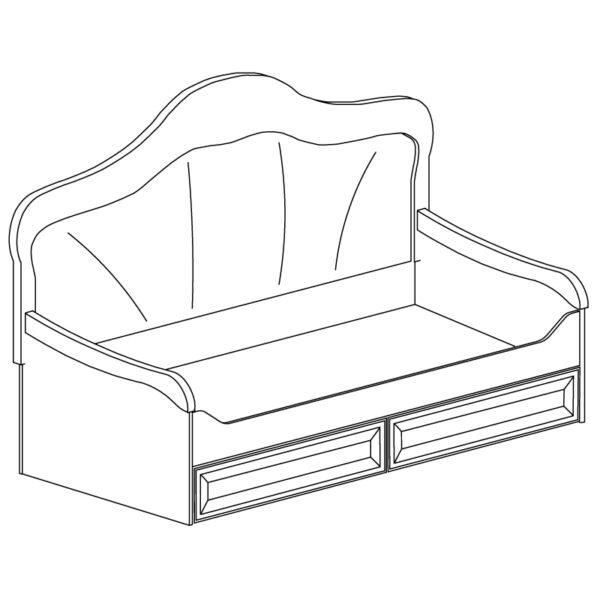 582 600x600 - Кровать ЭЛЛИ 582 90х200 см с ящиками (кремовый белый)