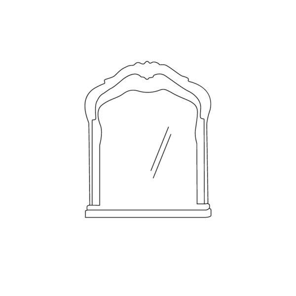ЭЛЛИ 583 Зеркало (кремовый белый)