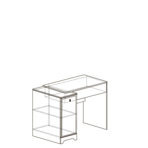 ДЖЕКСОН 870 Стол письменный (кобальт серый)