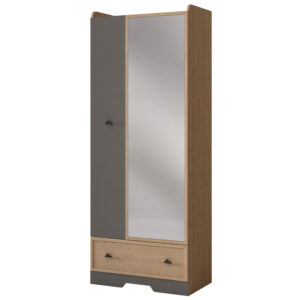 ДЖЕКСОН 871 Шкаф 2-х дверный с зеркалом (кобальт серый)
