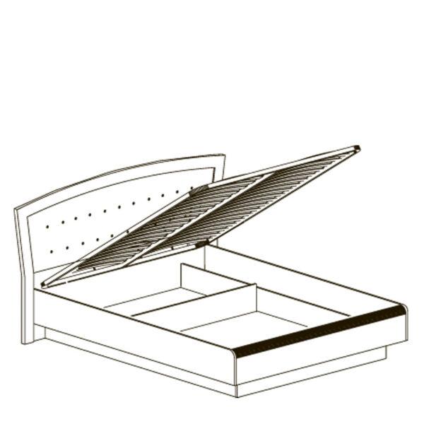 afiny 368 shema sayt 600x600 - АФИНЫ 368 Кровать двойная 160х200 см с подъемным механизмом (кремовый белый)