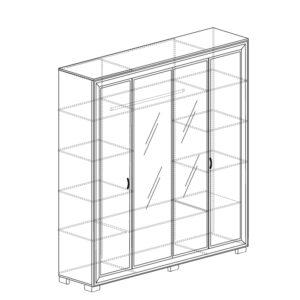 afiny shkaf 367 300x300 - АФИНЫ 367 Шкаф  4-х дверный (кремовый белый)