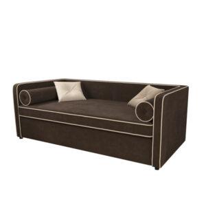 """Детский диван """"Дэйл"""" коричневый (Велютто 24_Велютто 04)"""