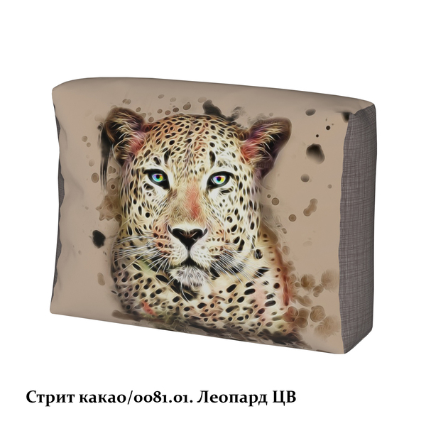 cmwzvnouqf pthhyhlxnf 0081.01. vfpfclwgxzpaml zhyo - Стрит какао/леопард цв чехол подушки