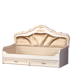 ЭЛЛИ 582 Кровать 1-спальная с ящиками (кремовый белый)