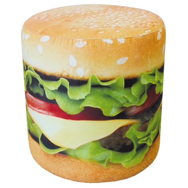 puf s printom gamburger ishodnik 600 - Пуф Гамбургер