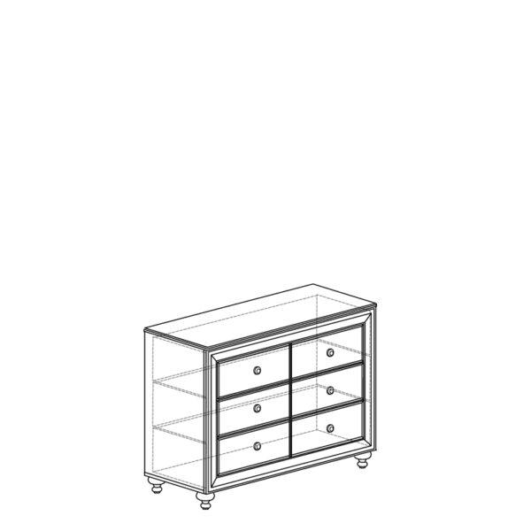 shema 362 600x600 - АФИНЫ 362 Комод (кремовый белый)