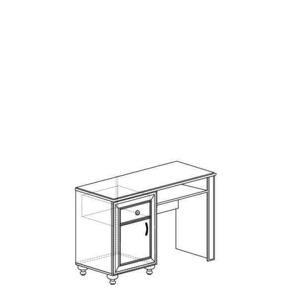 shema 363 600x600 - АФИНЫ 363 Стол туалетный (кремовый белый)