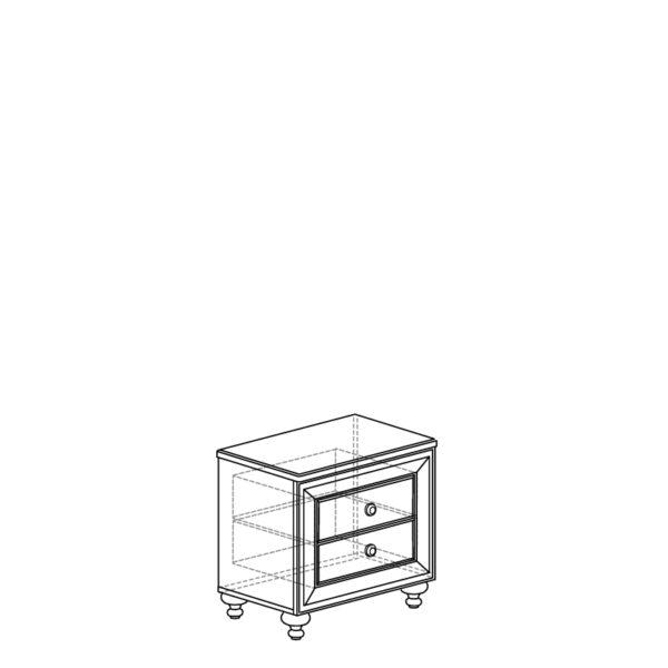 shema 364 600x600 - АФИНЫ 364 Тумба прикроватная (кремовый белый)