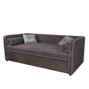 """Детский диван """"Дэйл"""" Темно-серый (Велютто 19_Велютто 52)"""
