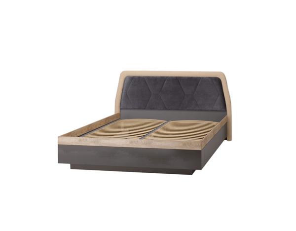 ДЕЛИ 75 Кровать двуспальная 160х200 (дуб эндгрейн/антрацит)