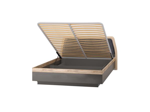 ДЕЛИ 77 Кровать 160х200 с подъемным механизмом (дуб эндгрейн/антрацит)