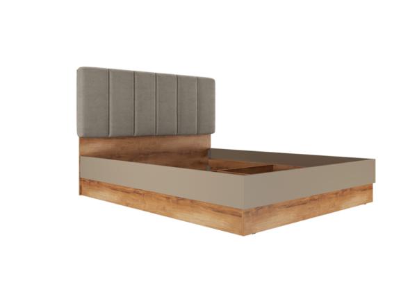 Рамона Кровать 180*200 см с п/мех (дуб кельтский/капучино)