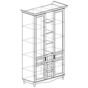 400 300x300 - ПРОВАНС 400 Шкаф многоцелевой (Сосна белая)